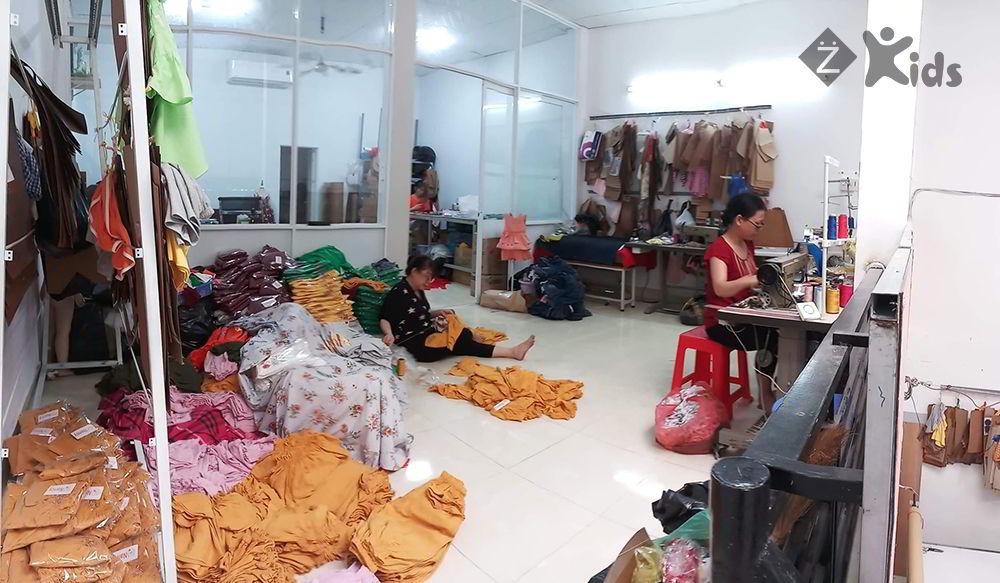xưởng may quần áo trẻ em