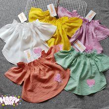 AG05560 - Áo vải tơ xịn bé gái thêu tim size 1-8