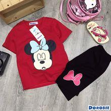 BT230201 bộ thun Mickey Minnie dễ thương Chất cotton 100% 4c 1-8