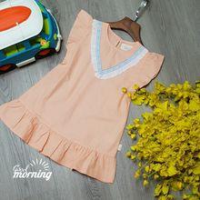 DG220201 Đầm chạy ren V thời trang vải xí nghiệp kate xược Cotton đẹp.