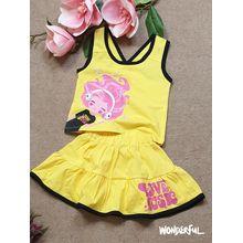BG040202-Bộ váy bèo in cô gái