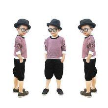 BT040601 - Sét quần kaki phối áo thun sọc