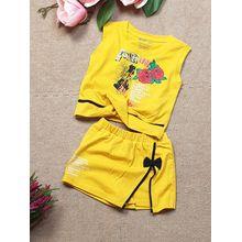 BG040205-Bộ quần short váy in hoa