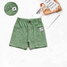 QT2110203-Quần sọt linen phối túi logo