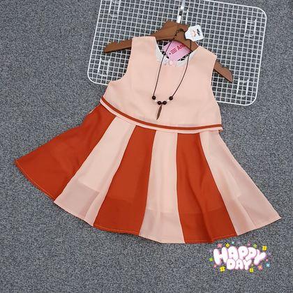 DG107105 Đầm bé gái kèm dây chuyền 8-12