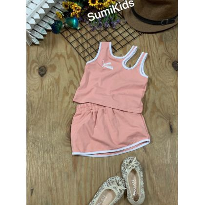 BG210201 Chào set chân váy thể thao sành điệu cho bé gái diện hè năng động