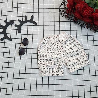 QT260201 Quần lửng bé trai chất linen họa tiết