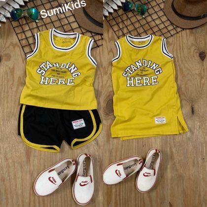 SET010301 Sumikid chào set cặp phong cách thể thao khoẻ khoắn cho bé trai và gái 1-8