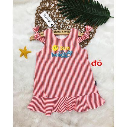 DG050401 - Đầm lên từ chất vải sọc linen