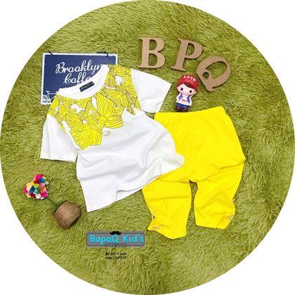 BG2080201-Bộ bé gái nơ sắc màu