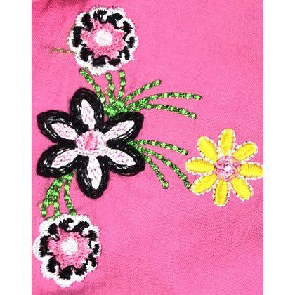 DG030601 - Đầm bèo cổ hở lửng thêu hoa