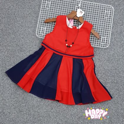 Đầm bé gái kèm dây chuyền 8-12 DG107105